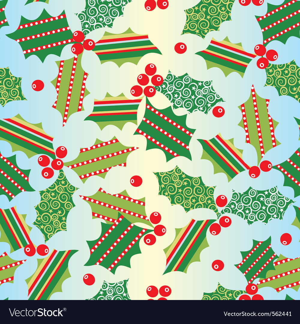 Seamless xmas background vector | Price: 1 Credit (USD $1)