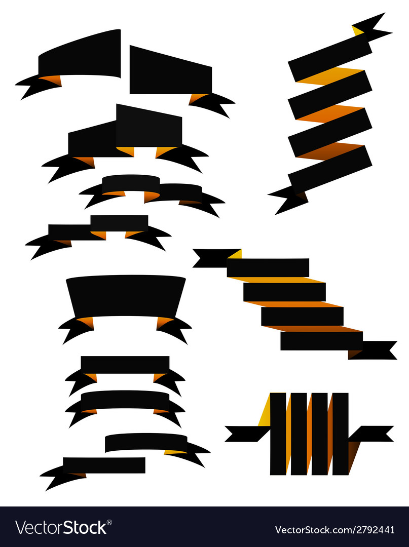 Set of 13 ribbons vector | Price: 1 Credit (USD $1)