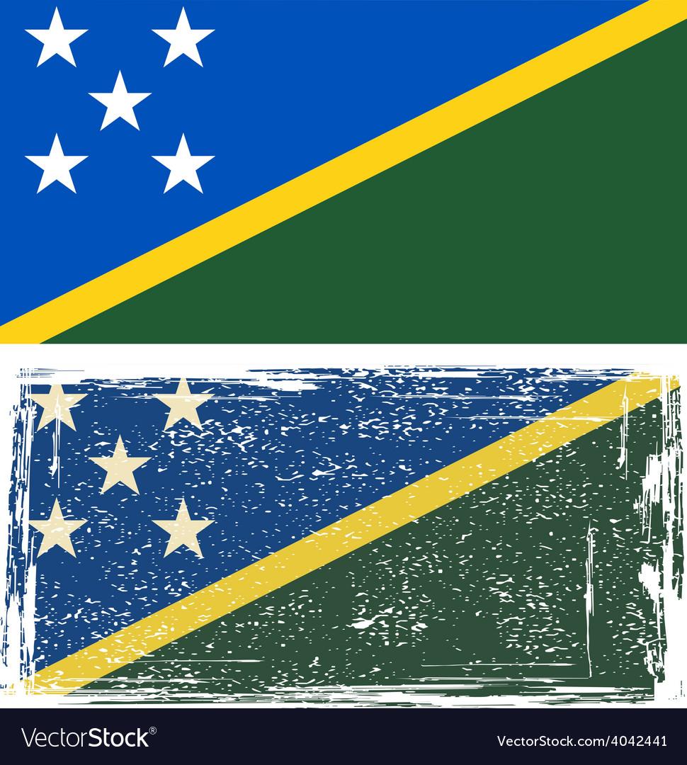 Solomon islands grunge flag vector   Price: 1 Credit (USD $1)