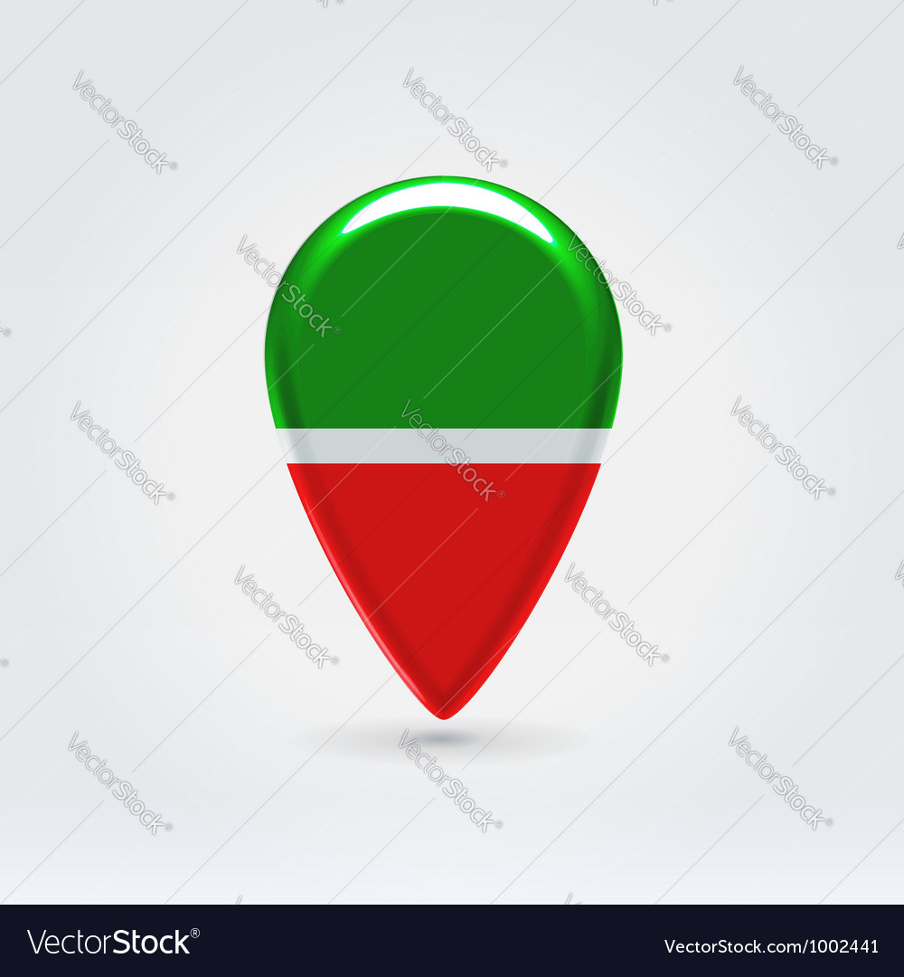 Tatarstan icon point for map vector | Price:  Credit (USD $)