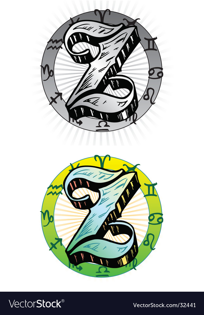 Tattoo letter z vector | Price: 1 Credit (USD $1)