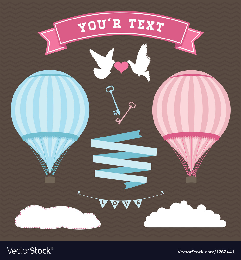 Wedding balloon set vector | Price: 1 Credit (USD $1)