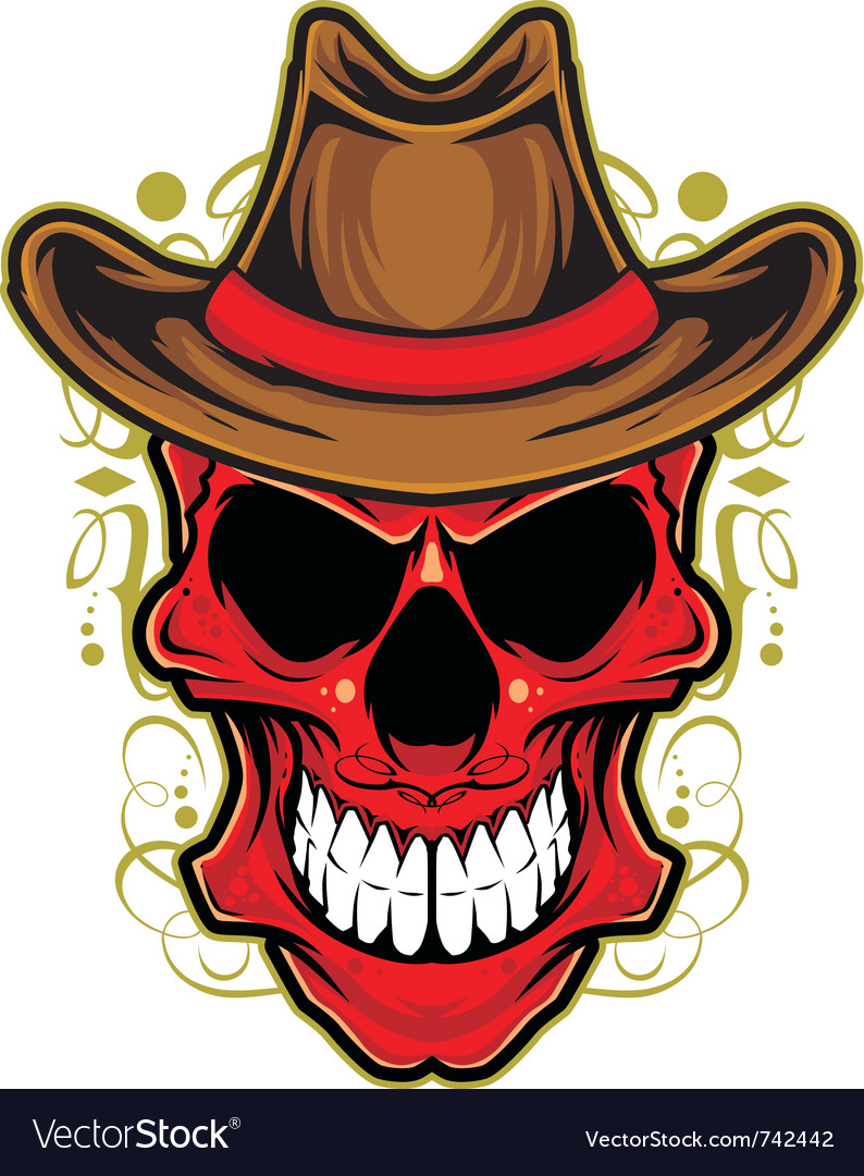 Angry skull ornament vector | Price: 3 Credit (USD $3)