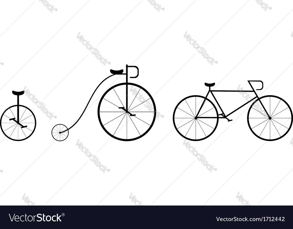 Bike silhouettes vector | Price: 1 Credit (USD $1)