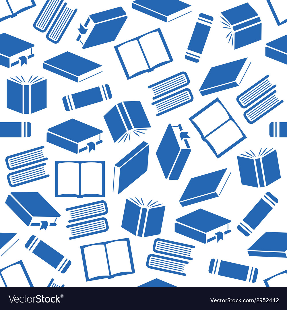 Book seamless pattern vector | Price: 1 Credit (USD $1)
