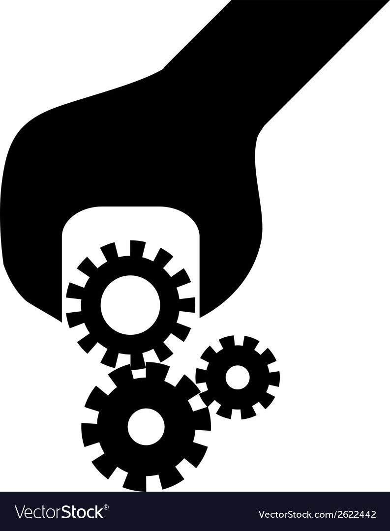 Cogwheel in screwdriver vector | Price: 1 Credit (USD $1)