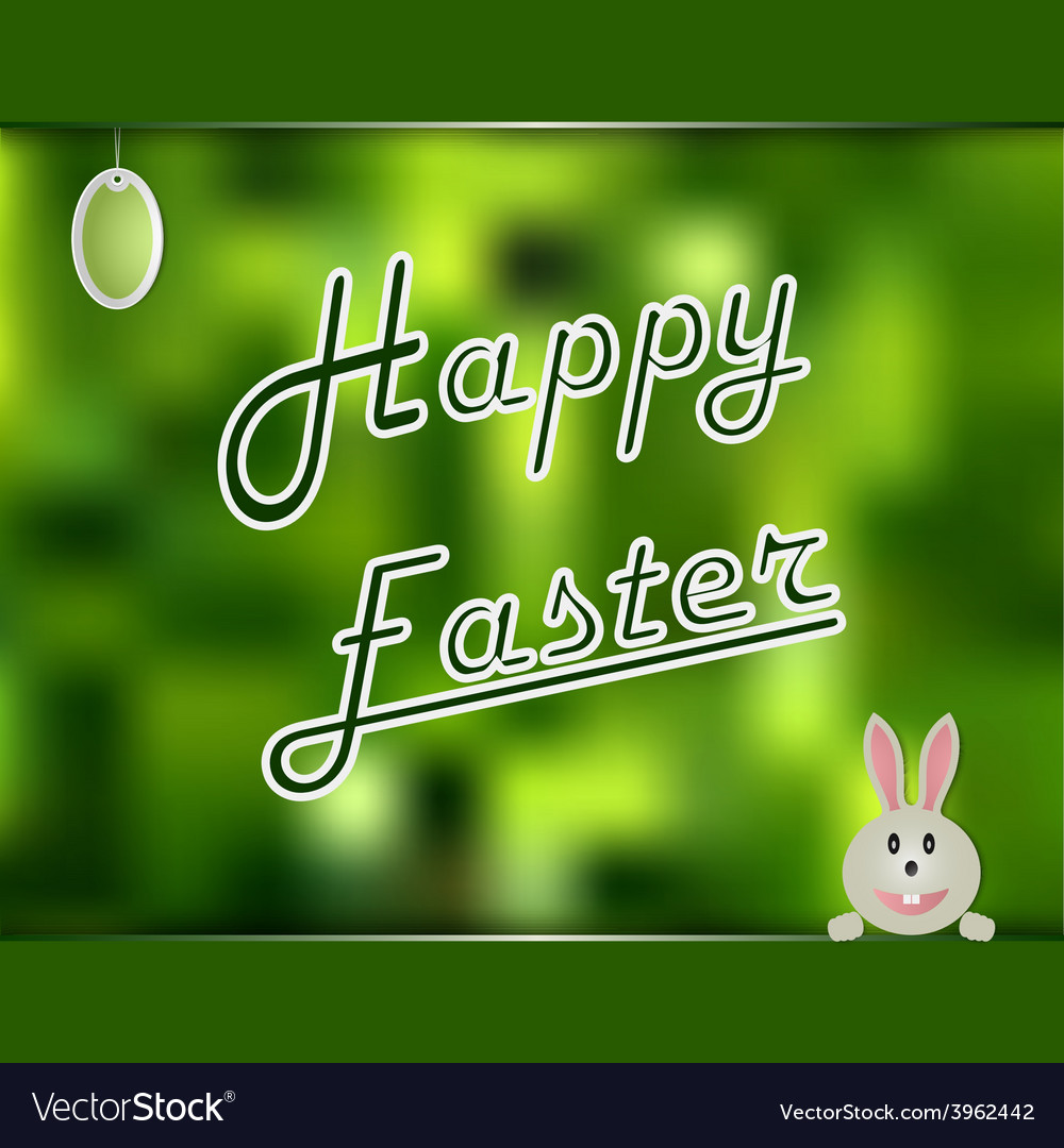 Easter card with green abstract background vector | Price: 1 Credit (USD $1)