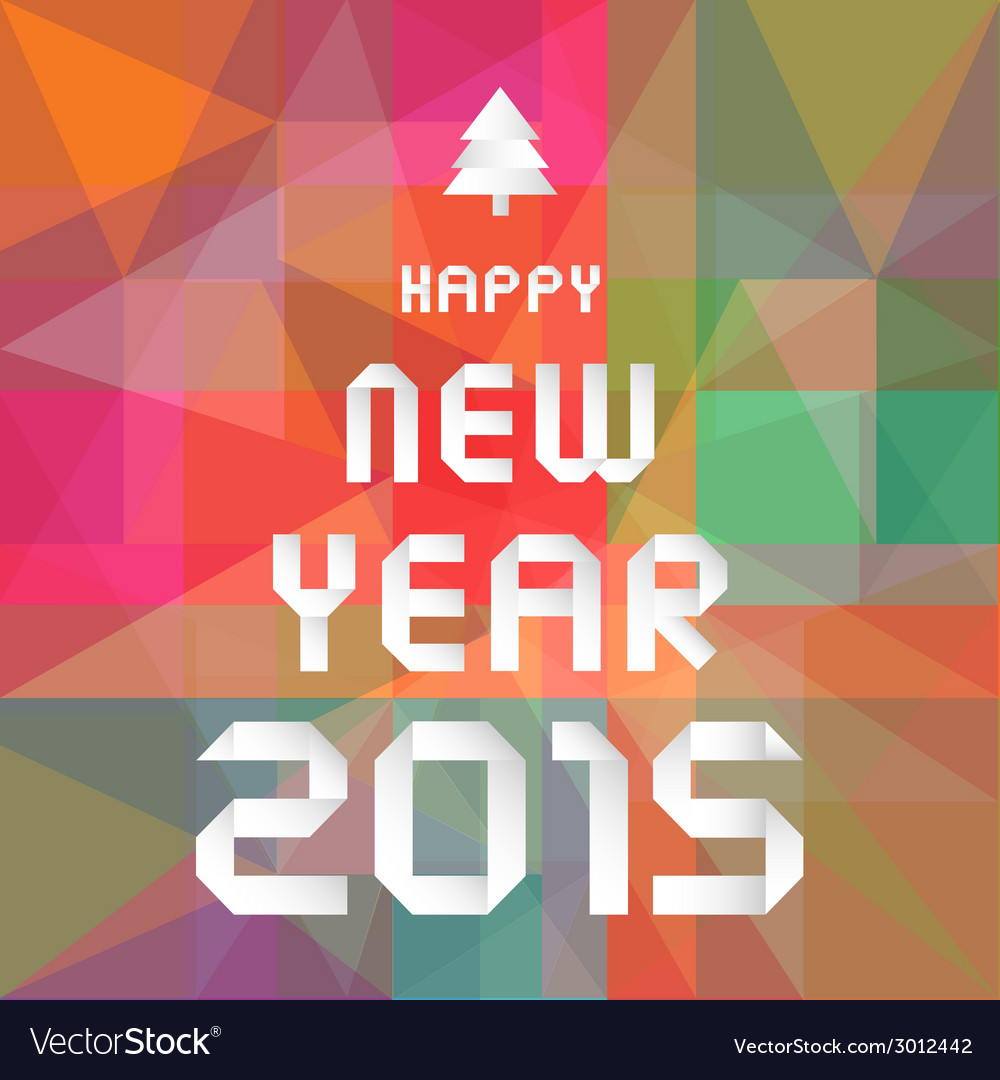 Happy new year 2015 greeting card5 vector | Price: 1 Credit (USD $1)