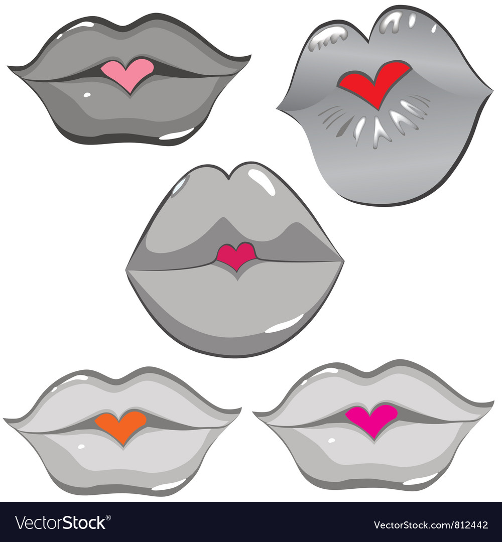 Lip hearts vector | Price: 1 Credit (USD $1)