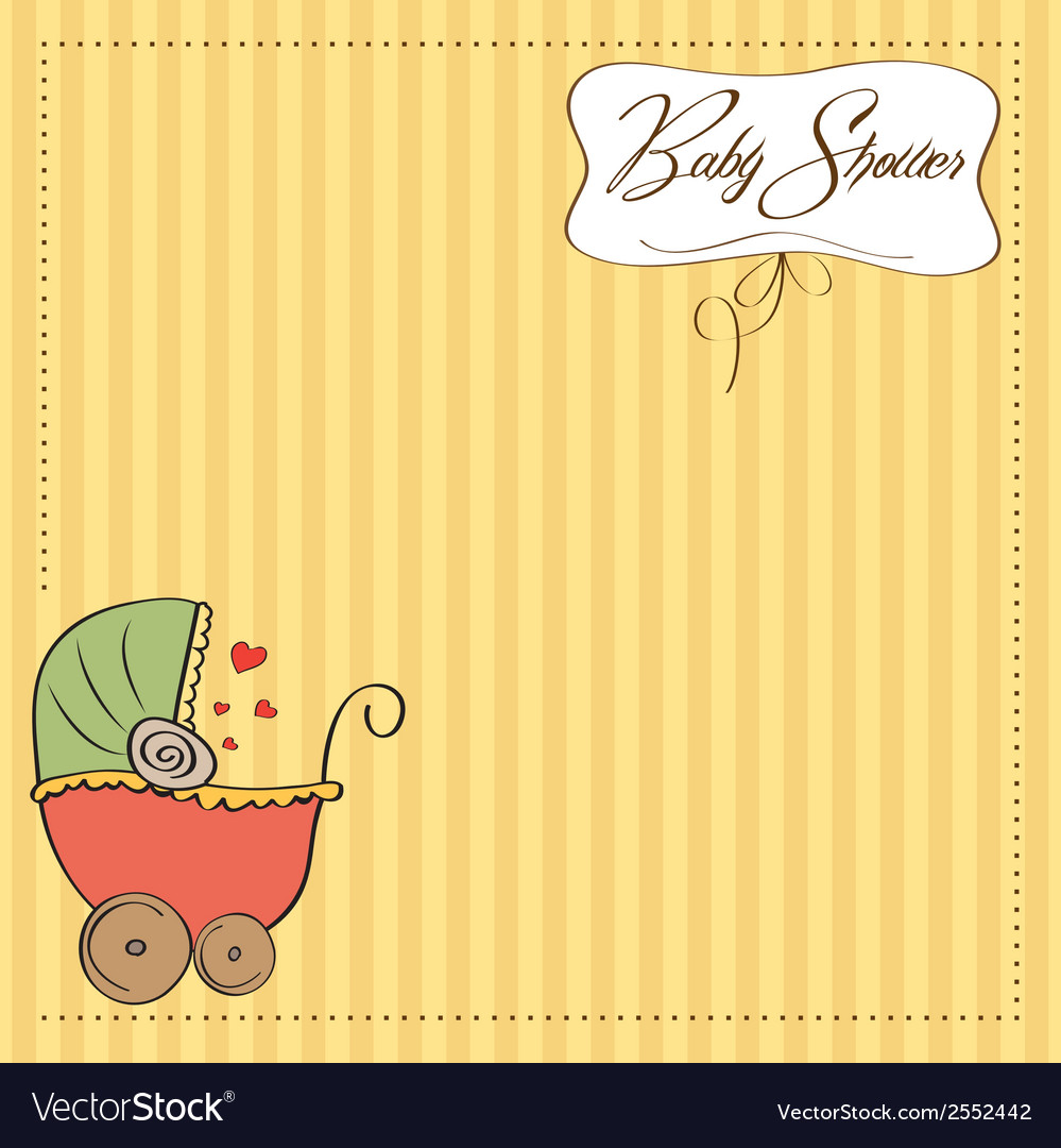 New baby announcement card vector   Price: 1 Credit (USD $1)