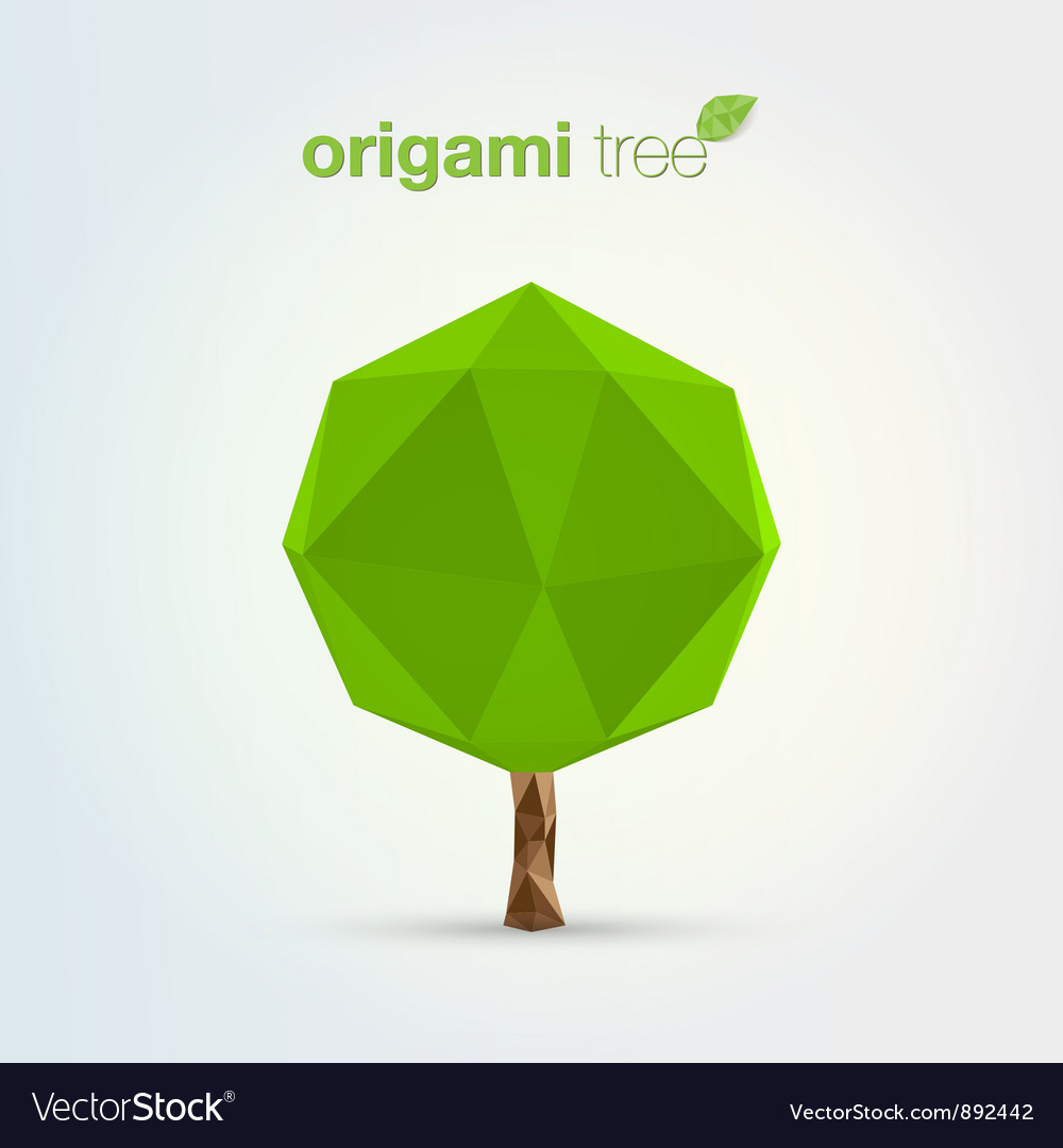 Origami tree vector | Price: 1 Credit (USD $1)