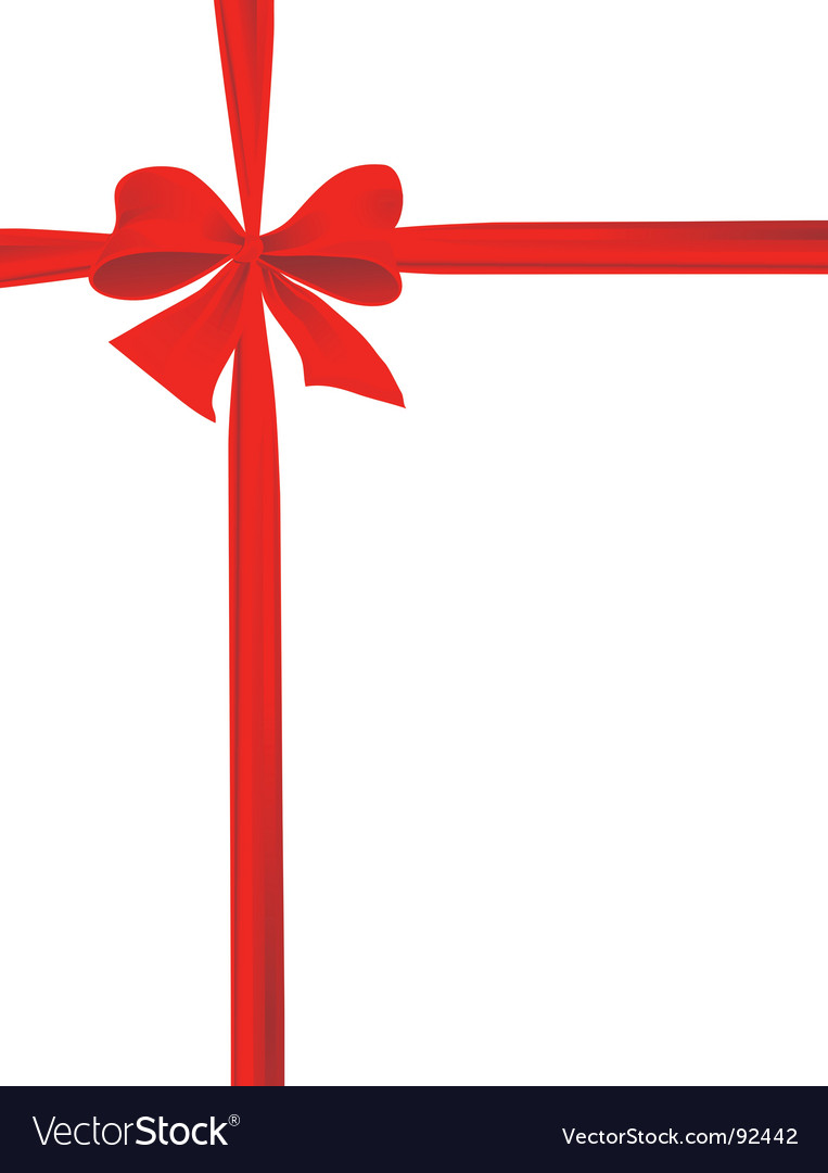 Packaging with a red ribbon vector | Price: 1 Credit (USD $1)