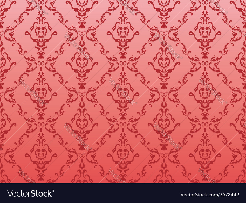 Seamless floral wallpaper vector | Price: 1 Credit (USD $1)