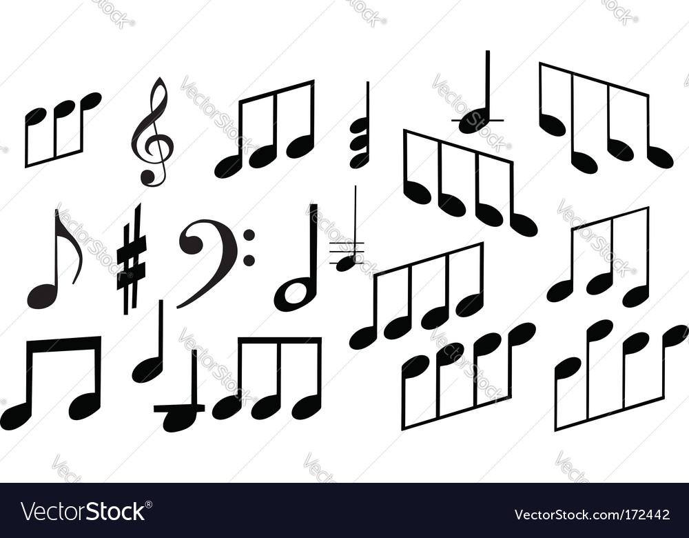 Set of musical symbols vector | Price: 1 Credit (USD $1)