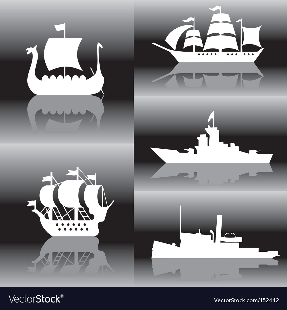 Ships vector | Price: 1 Credit (USD $1)