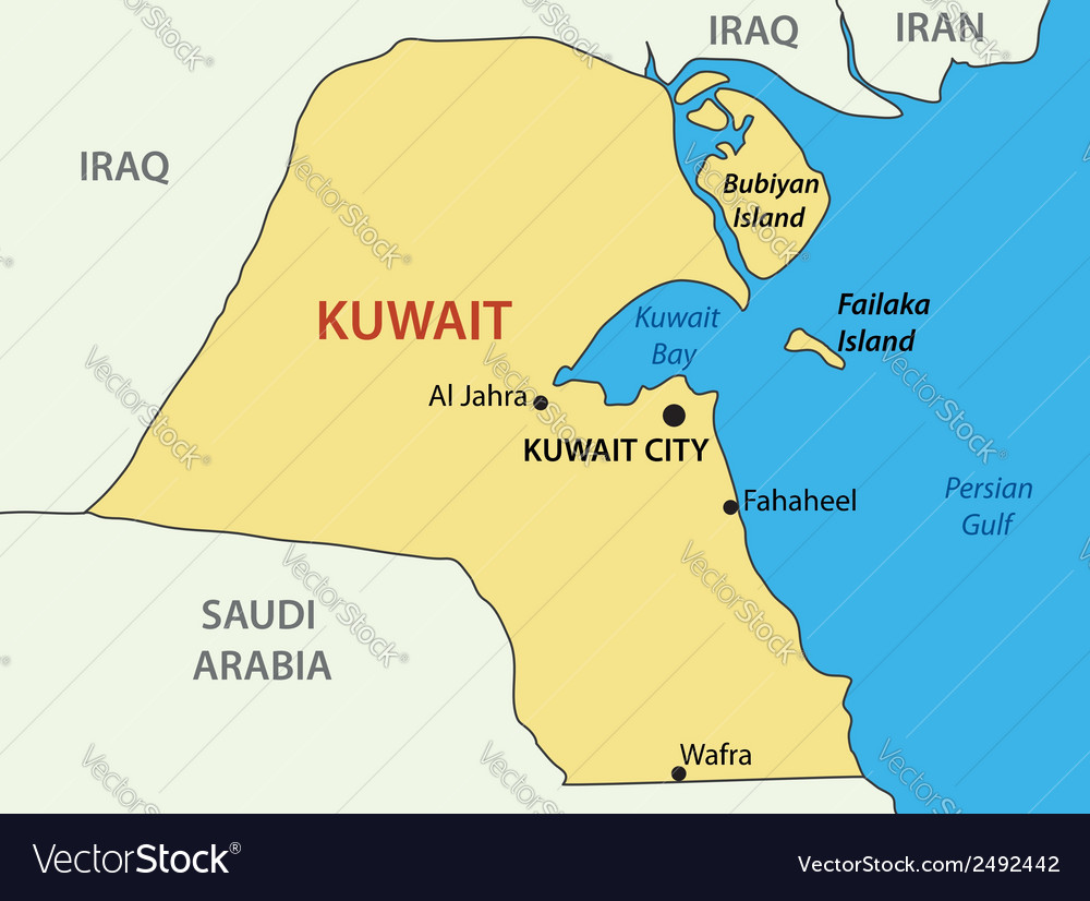 State of kuwait - map vector | Price: 1 Credit (USD $1)