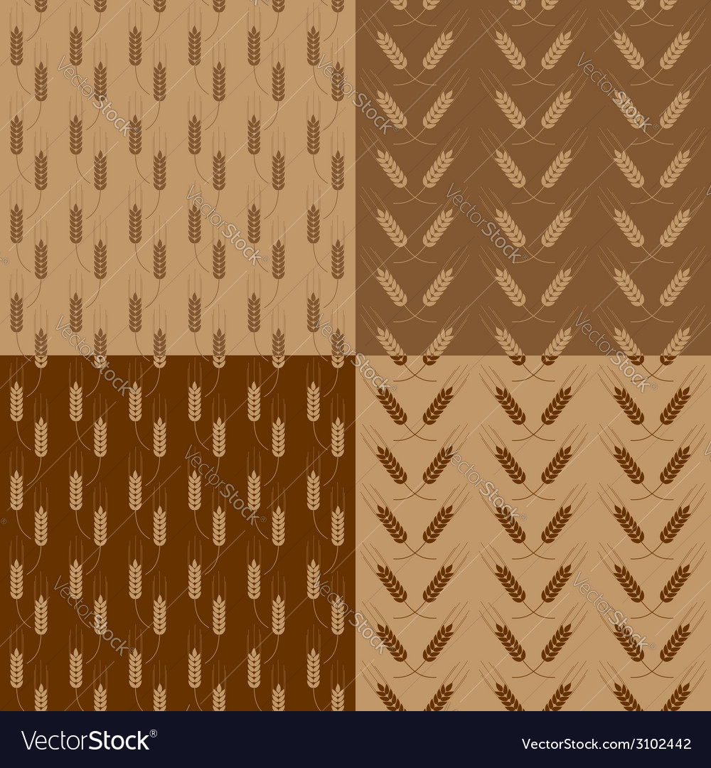 Wheat patterns set vector | Price: 1 Credit (USD $1)