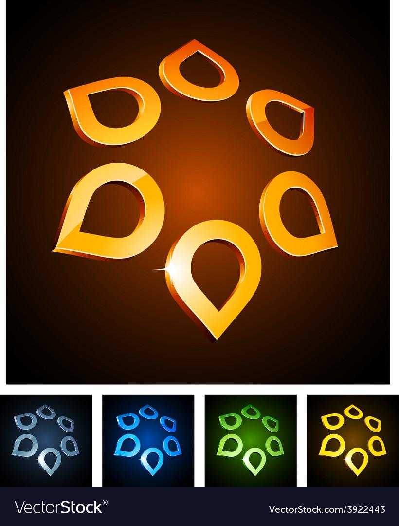 3d star emblems vector | Price: 1 Credit (USD $1)