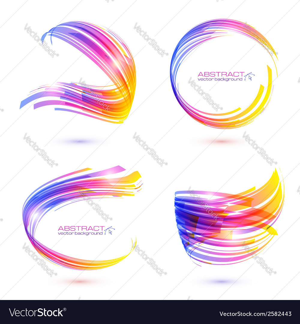 Abstract technology lines frames set vector