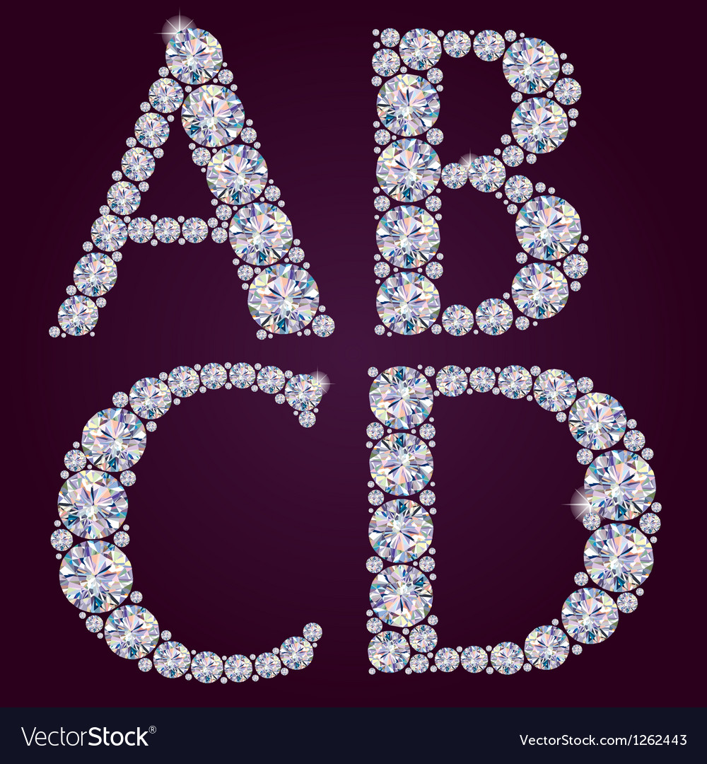 Alphabet of diamonds abcd vector | Price: 1 Credit (USD $1)