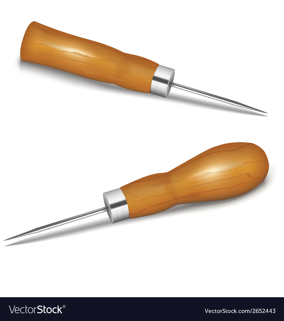 Awls with wooden handle vector | Price: 1 Credit (USD $1)