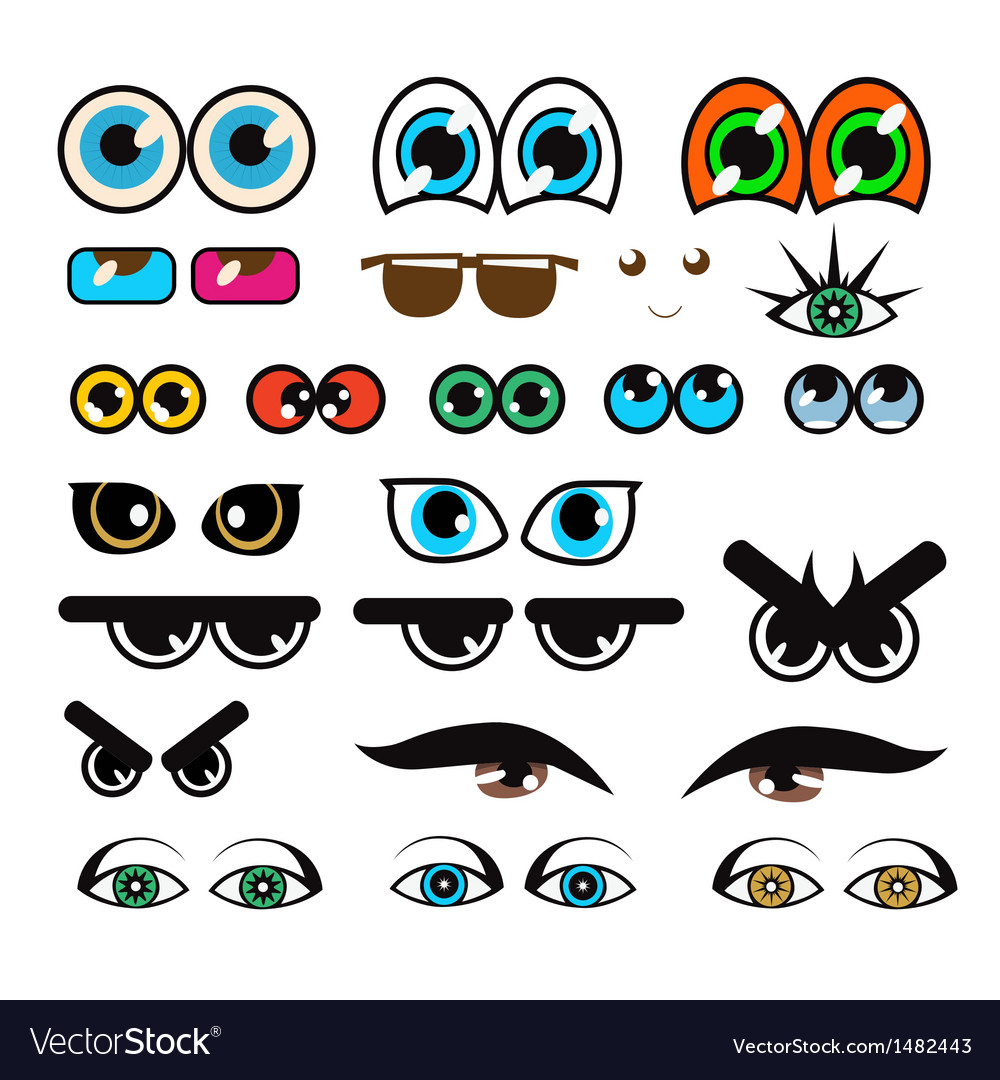 Cartoon eyes vector | Price: 1 Credit (USD $1)