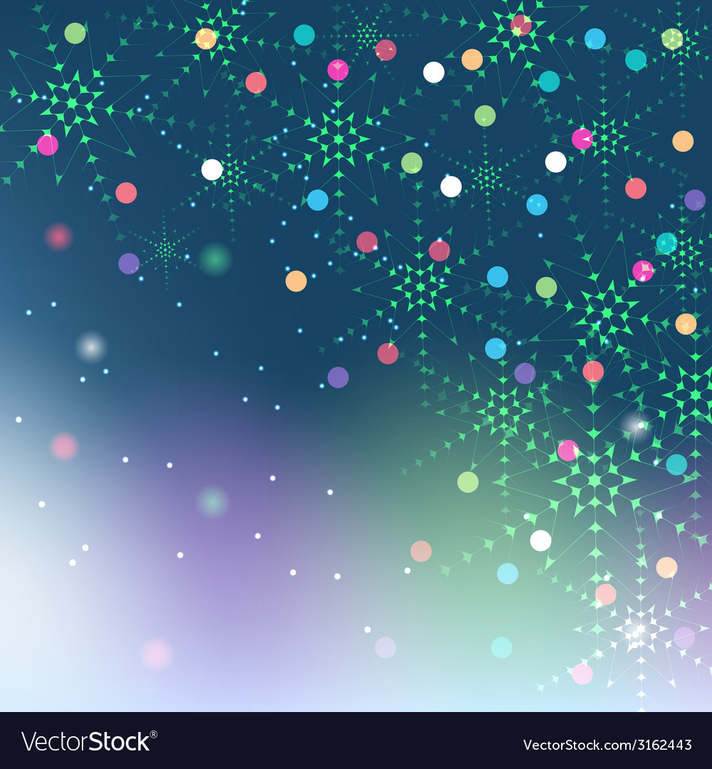 Christmas snowflakes on colorful background vector | Price: 1 Credit (USD $1)