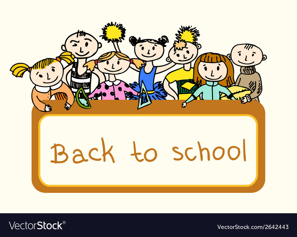 Decorative back to school background vector | Price: 1 Credit (USD $1)