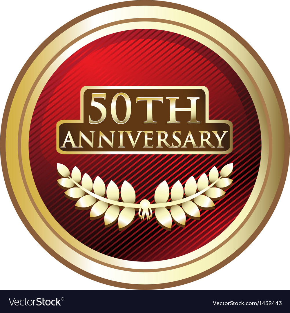 Fiftieth anniversary award vector | Price: 1 Credit (USD $1)