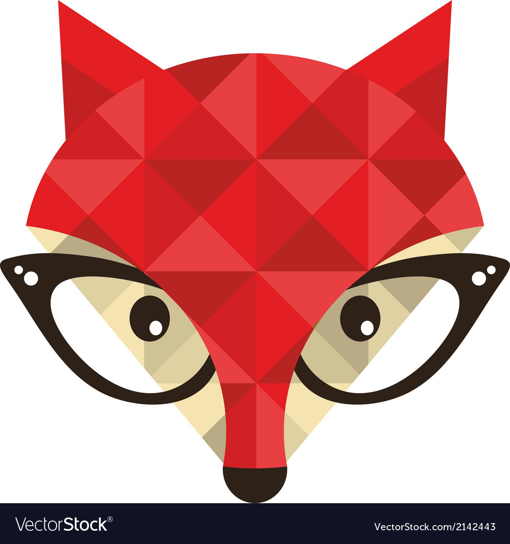 Hipster emblem with fox vector | Price: 1 Credit (USD $1)