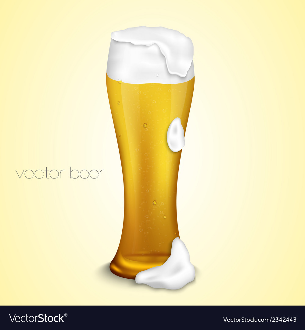 Light beer with the foam vector | Price: 1 Credit (USD $1)