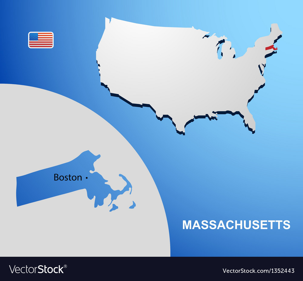 Massachusetts vector | Price: 1 Credit (USD $1)