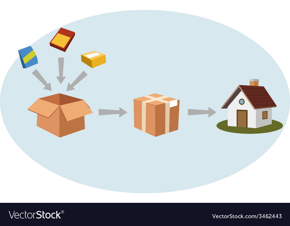 Packing and shipping vector | Price: 1 Credit (USD $1)