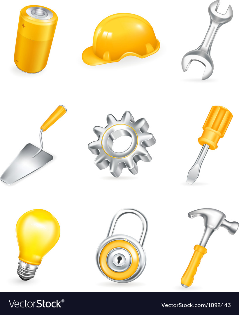 Repair icon set vector | Price: 1 Credit (USD $1)