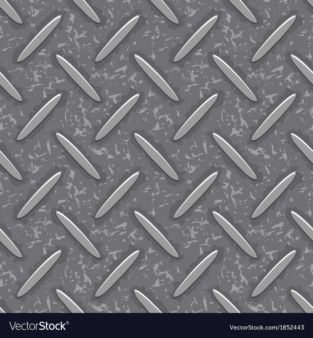 Seamless steel diamond plate grunge texture vector | Price: 1 Credit (USD $1)