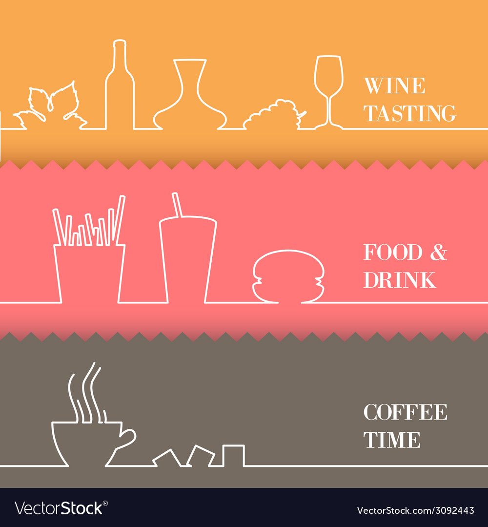 Set of flat line elements vector | Price: 1 Credit (USD $1)