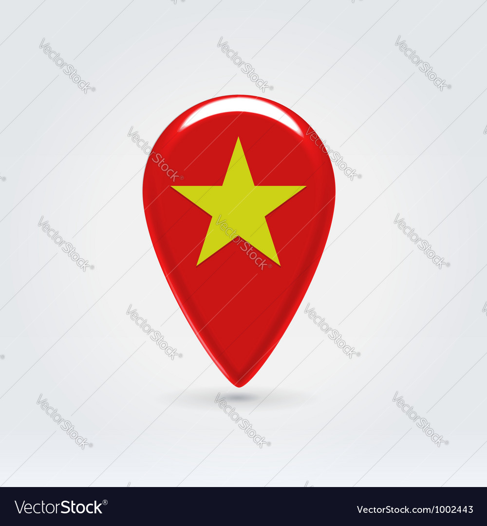Vietnamese icon point for map vector | Price:  Credit (USD $)