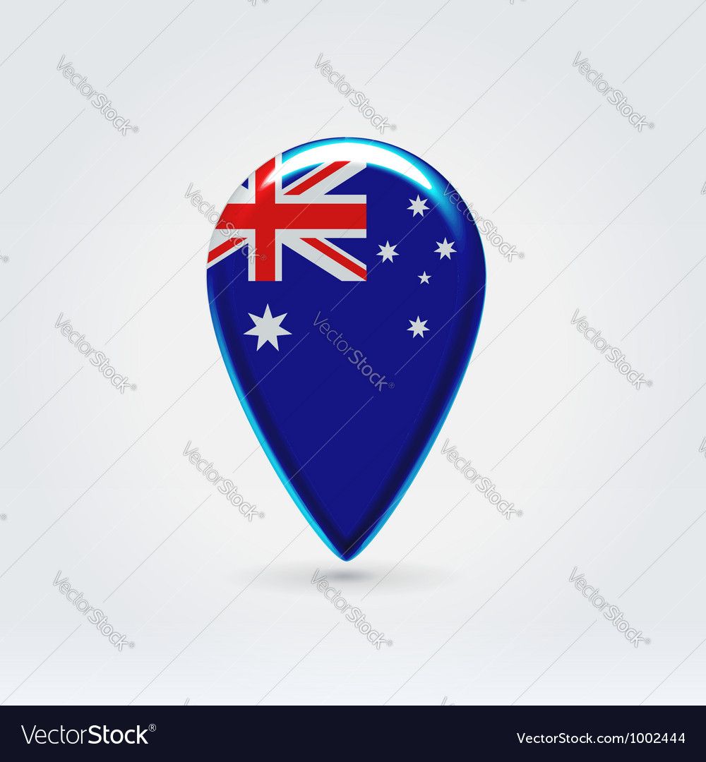 Australian icon point for map vector | Price:  Credit (USD $)