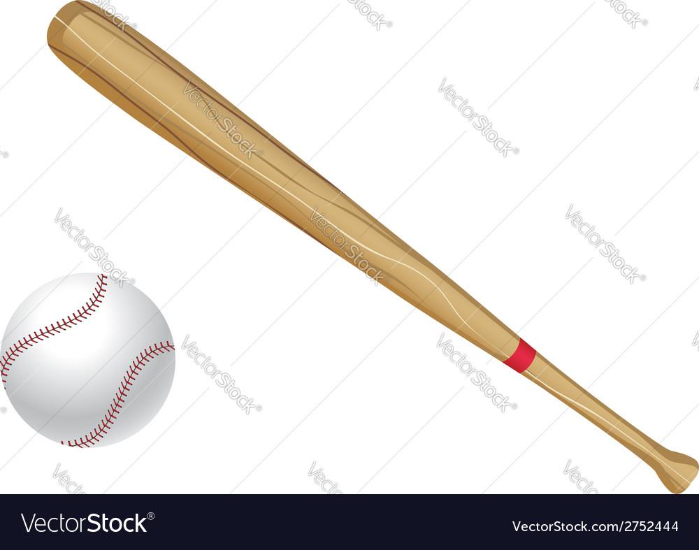 Baseball bat and ball vector | Price: 1 Credit (USD $1)