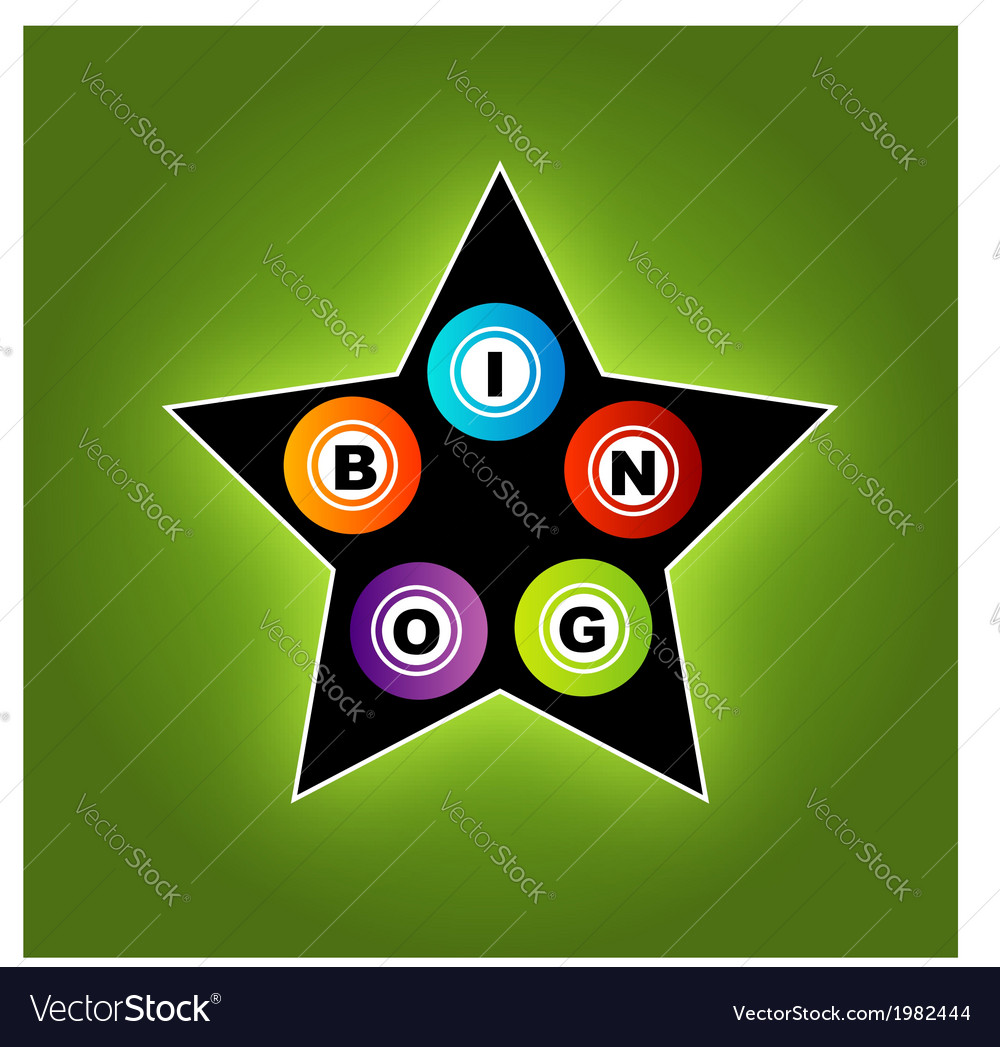 Bingo star vector | Price: 1 Credit (USD $1)