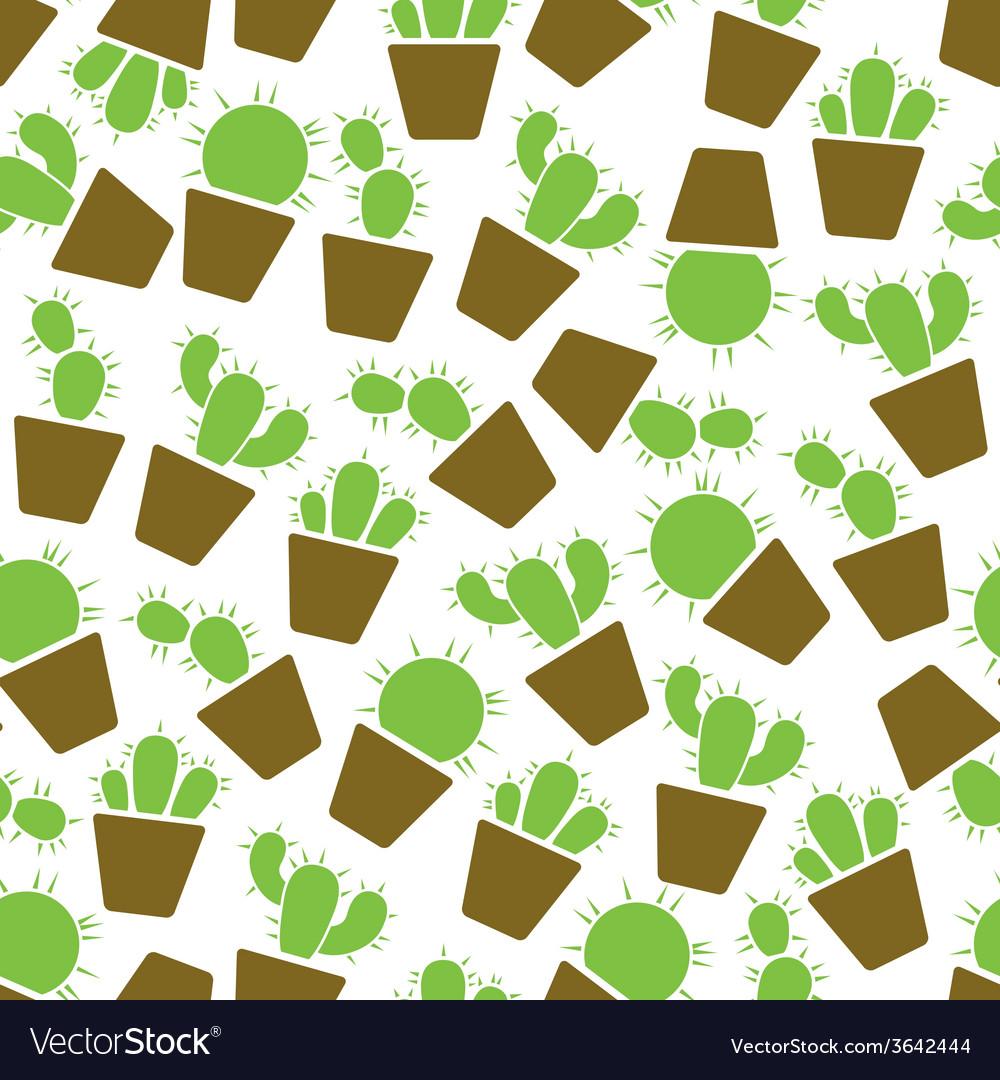 Cactus seamless pattern vector | Price: 1 Credit (USD $1)