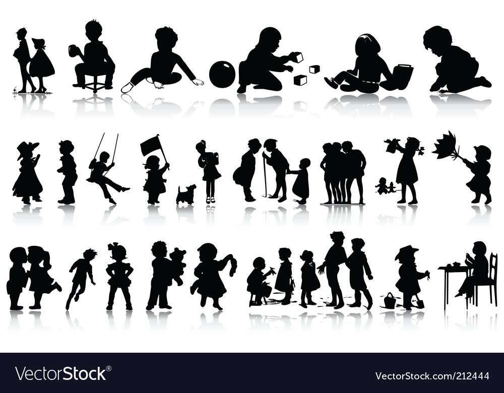 Children vector | Price: 1 Credit (USD $1)