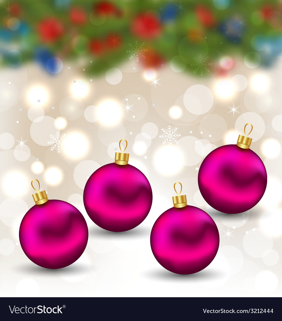 Christmas background with glass balls - vector | Price: 1 Credit (USD $1)