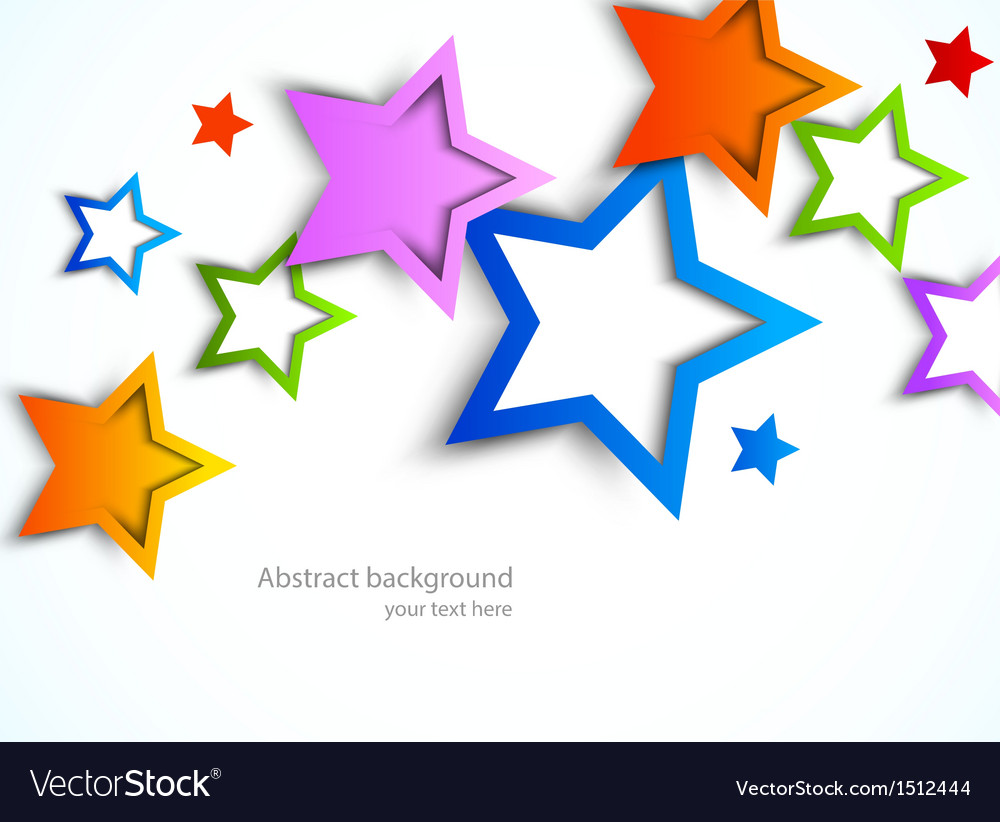 Colorful stars vector | Price: 1 Credit (USD $1)