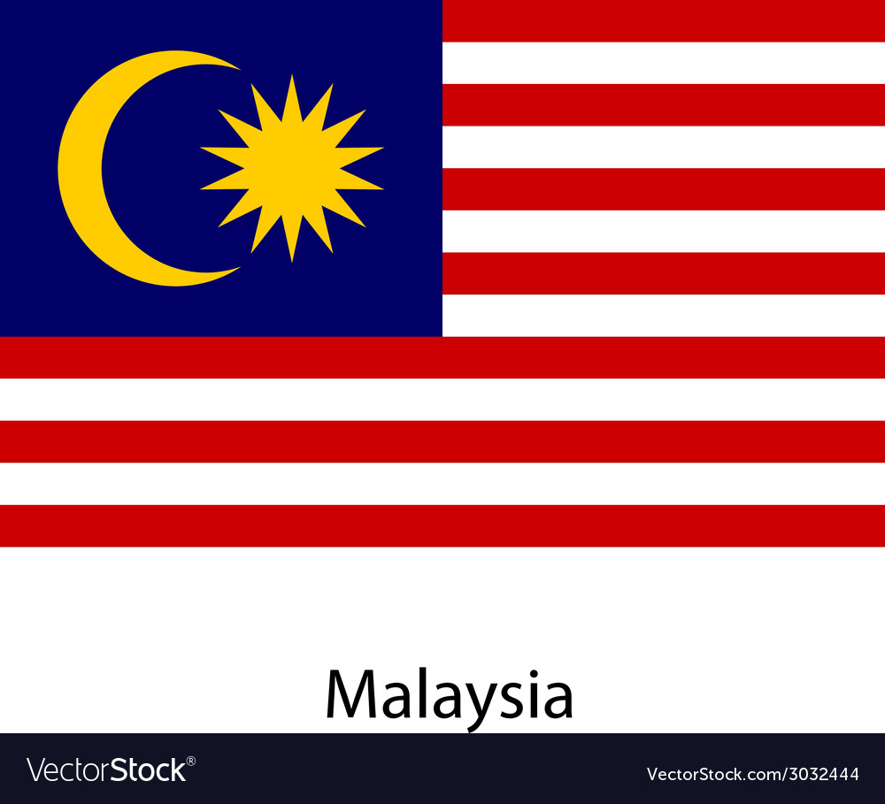 Flag of the country malaysia vector | Price: 1 Credit (USD $1)