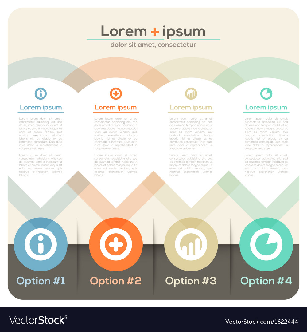 Four columns abstract design layout vector   Price: 1 Credit (USD $1)