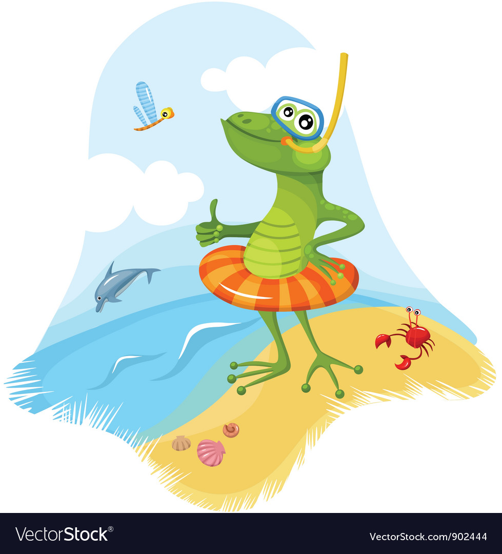 Funny frog vector | Price: 3 Credit (USD $3)
