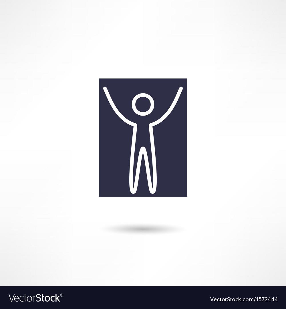 Happy man icon vector | Price: 1 Credit (USD $1)