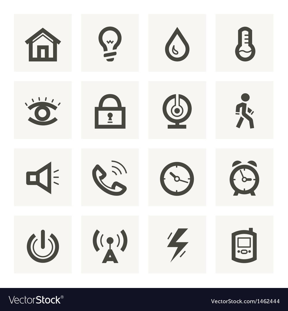 Icon set for security system and house automation vector | Price: 1 Credit (USD $1)