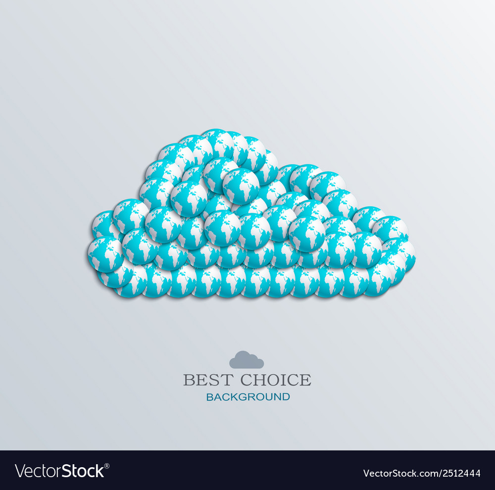Modern computer cloud design vector | Price: 1 Credit (USD $1)